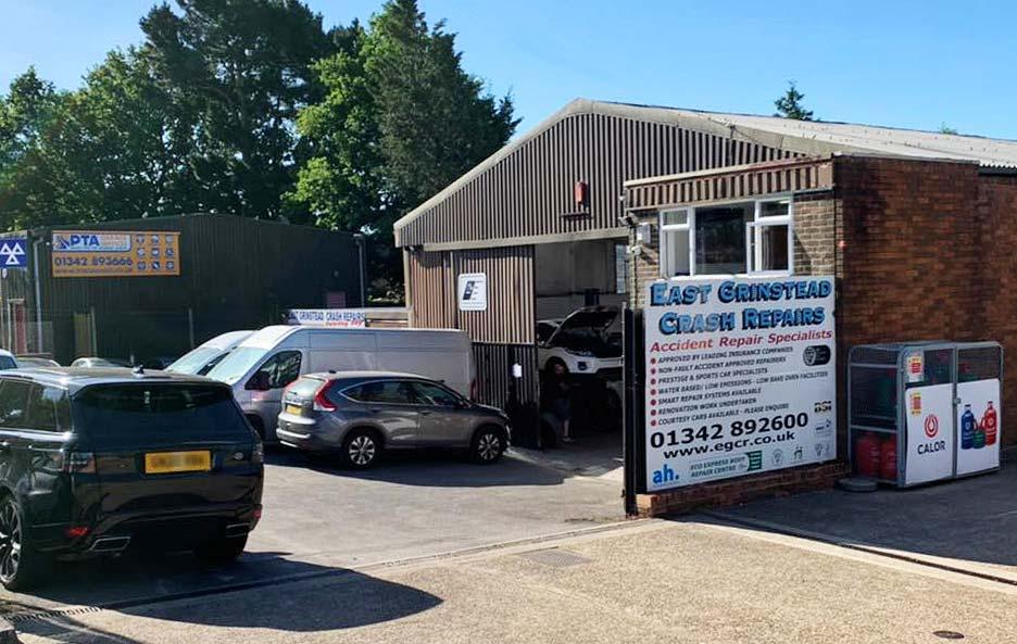 East Grinstead Crash Repair garage entrance